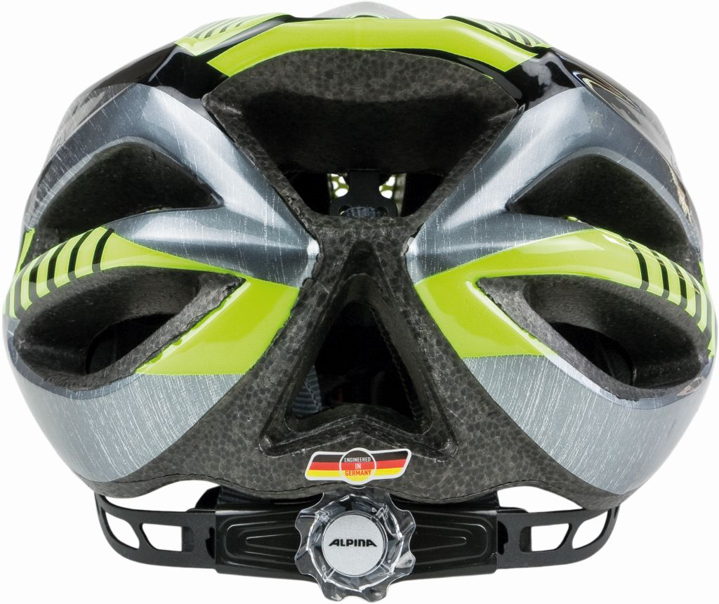 ALPINA KASK FB JUNIOR 2.0 BLACK-STEELGREY-NEON 50-55