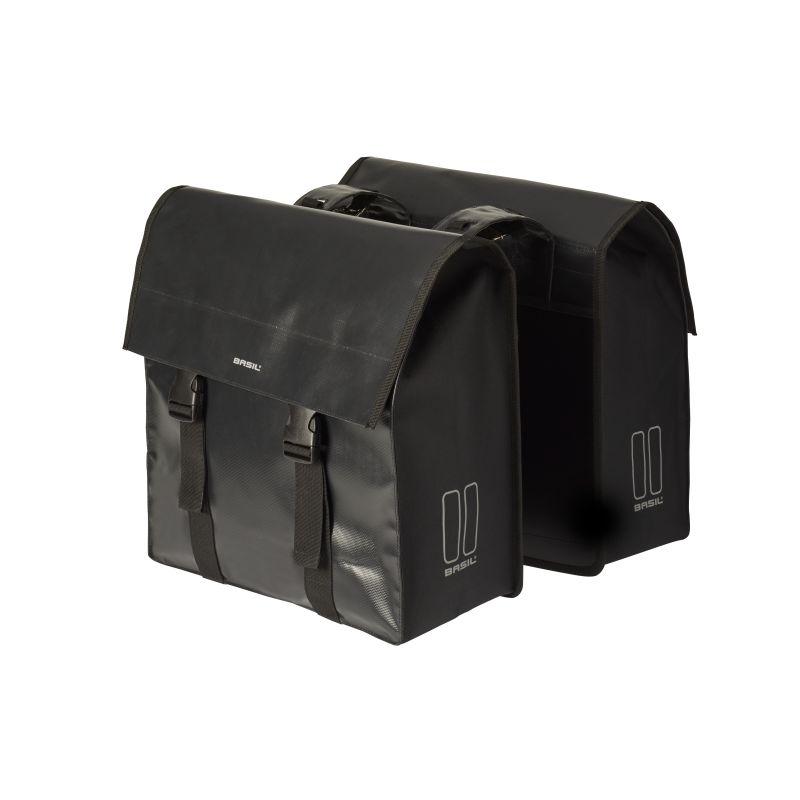 BASIL URBAN LOAD TORBA DOUBLE BAG, blackblack, 53L Torby